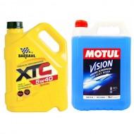 Промо Bardahl XTC 5w40 5L + Течност Чистачки Motul 5L